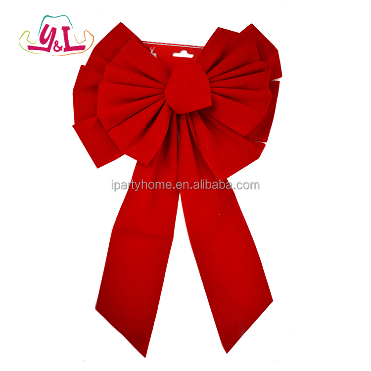 Jumbo Red Tie Bow Christmas Tree Ornament Novelty 2017