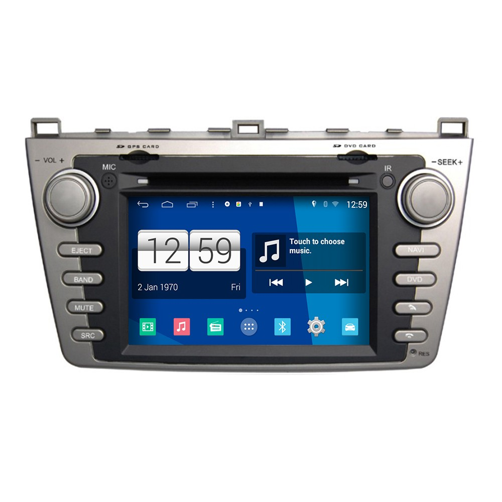 Wholesale HD 1024*600 Capacitive Screen for Mazda 6 Ruiyi pure android 4.4 car dvd player GPS