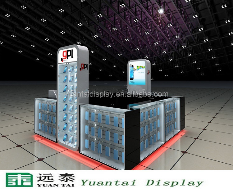 Cell phone retail display stands kiosk China supplier