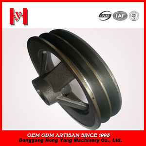 Agricultural machinery cast iron double v belt pulley