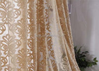 Newest classical silk effect curtains