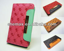 Cat pattern wallet case diary leather case for Samsung Galaxy S2 i9100