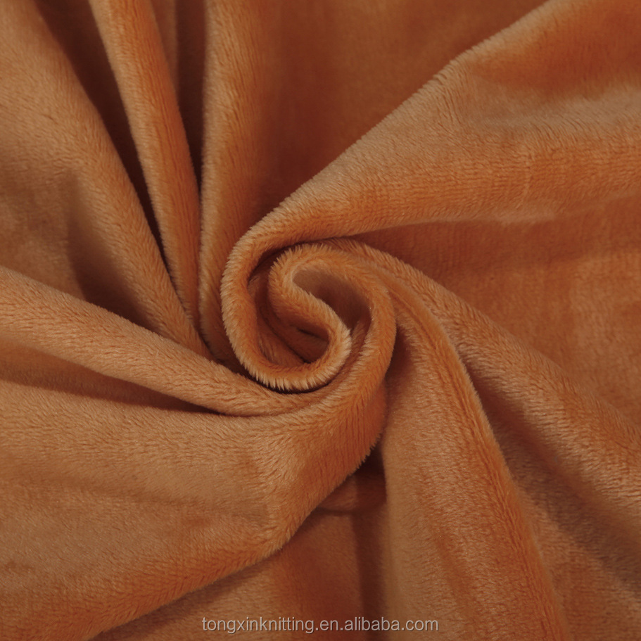 100% polyester short low pile plush fabric for car/Interlining/Bedding