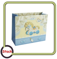 3D sticker glitter little horse paper gift shopper bag