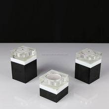 Factory direct sale custom design crystal tea light glass candle holder China sale