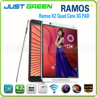 Very Cheap 3G Phone Call Tablet Ramos K2 Android 4.2 MTK8389 Quad Core 7.85 Inch 1GB Tablet PC Support GSM/WCDMA GPS S-sensor