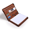 For iPad Zipper Leather Portfolio Case With Notepad