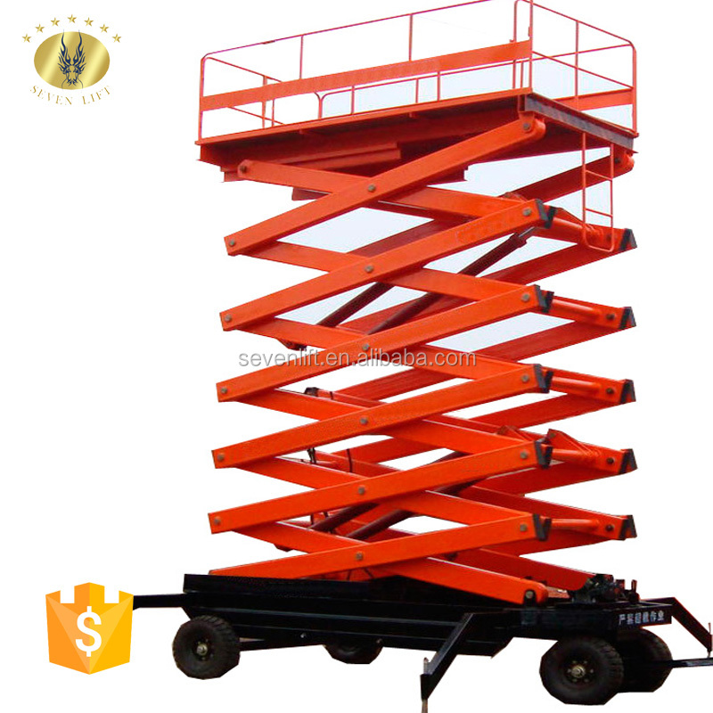 7LSJY Shandong SevenLift truck mounted scissor lift jacks aerial working platform