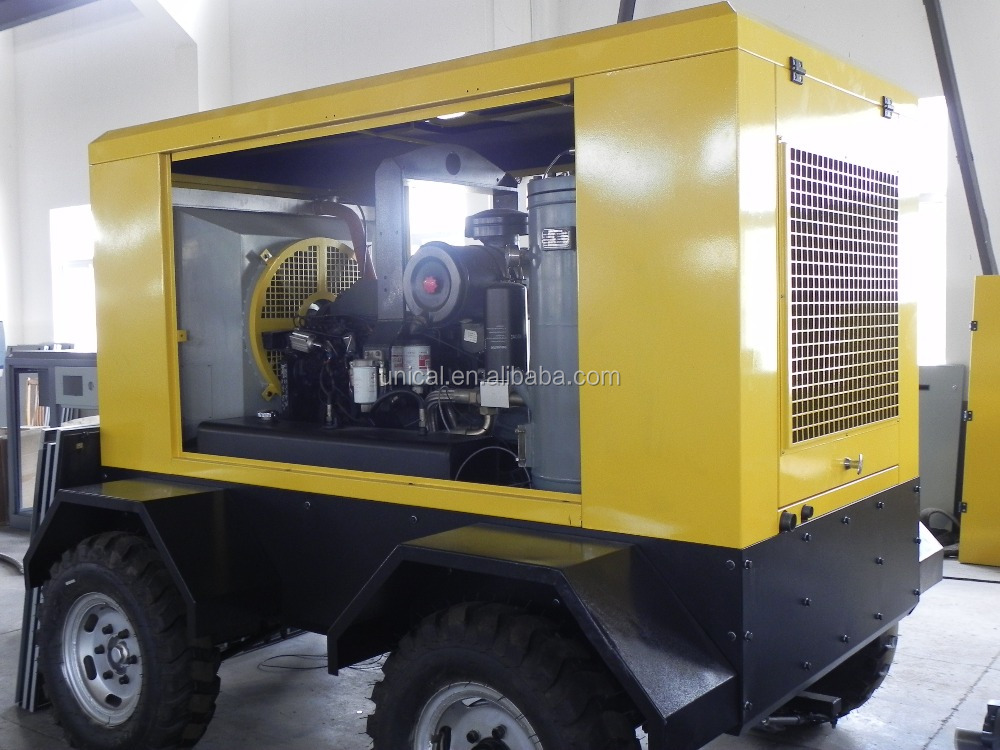 SLCY 58 portable diesel drive screw compressor 7m3/min air delivery