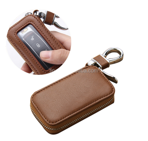leather car key chain wallets fashion key holder