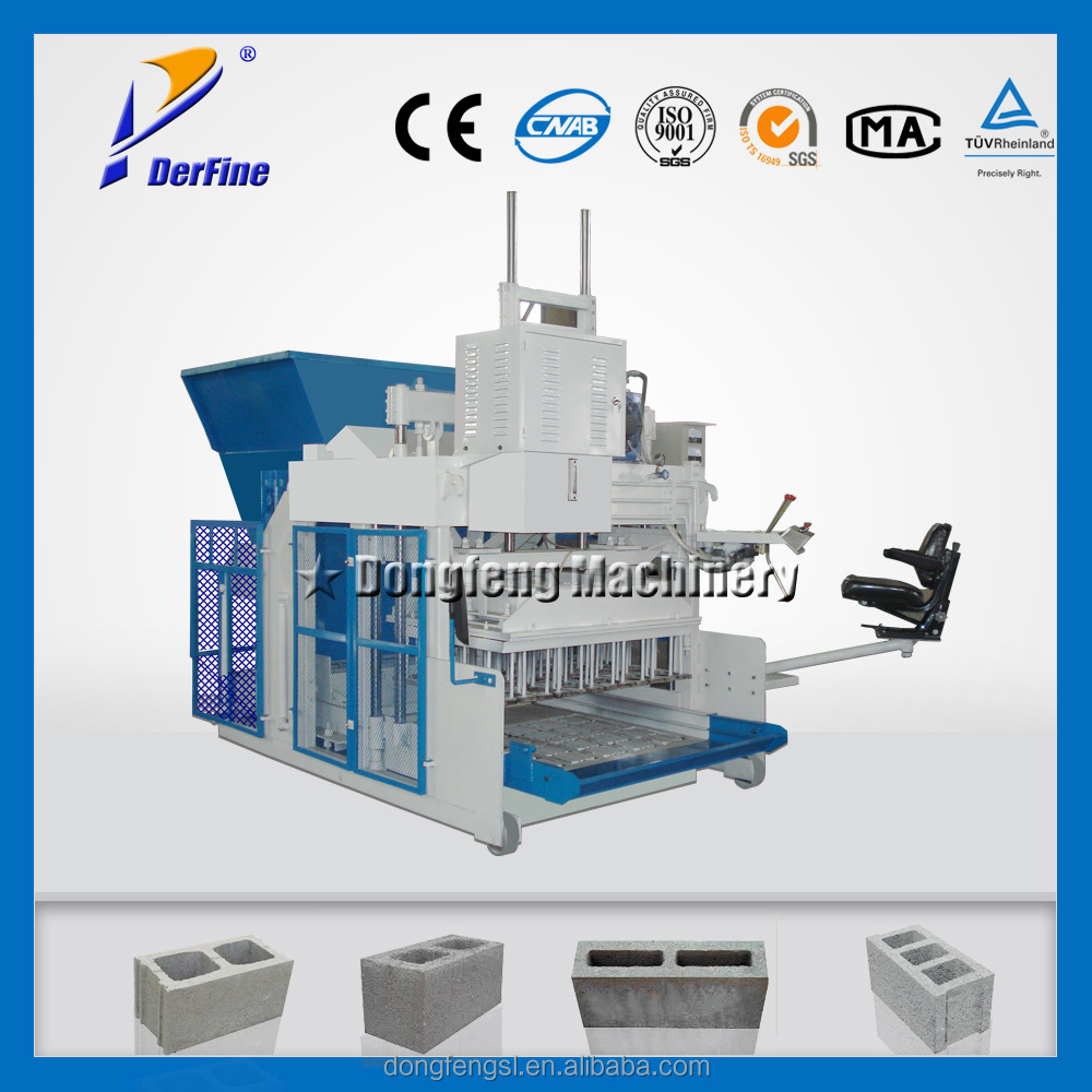 QMY10-15 building hollow brick machine / mobile cement brick making machine / hydraulic block making machine