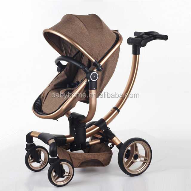 Adjustable baby stroller 360 rotatation 3 in 1 baby pram