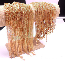 Wholesale jewelry accessories gold small 316 stainless steel chain for jewelry making