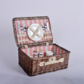 Natural Willow Wicker Shopping Hamper Weave Outdoor Beach Picnic Basket
