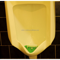 Victor Crafts manufacture factory wholesale football urinal screen for man World Cup urinal screen mat with soccer goal