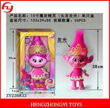 light hair trolls doll , trolls action figure toys