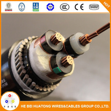 Medium voltage 11kV 33kV xlpe insulation underground 70mm2 3 core power cable