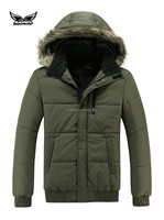 New Arrival High Quality Custom Middle-aged Men Winter Cotton Jacket With Fur Collar