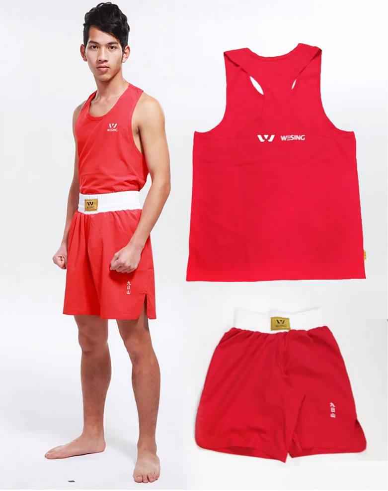 wesing boxing competetion suit men boxing vest s m l xl xxl