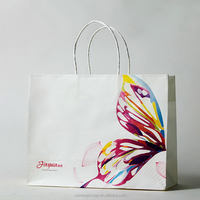 Attractive fashion hotsell recycle white food paper bag