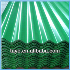 carport roofing material/corrugated color coated steel
