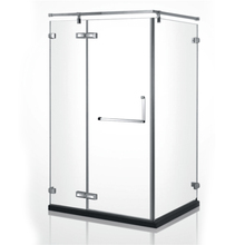 HS-LB551 american standard size tempered glass walk in shower cabin