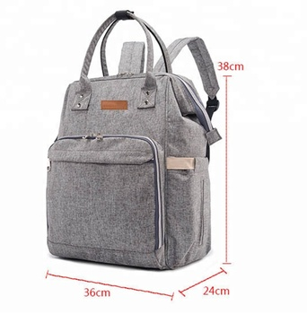 KID multi-functional travel PU leather polyester tote baby backpack diaper bag