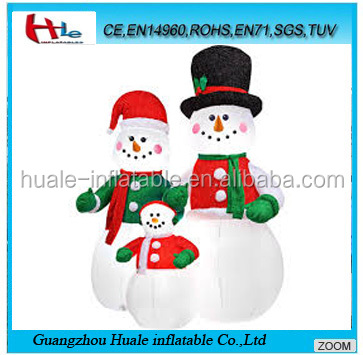 Family inflatable snowman,inflatable christmas decoration