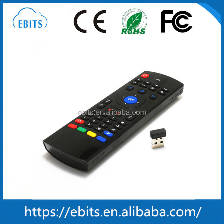 Most popular 2.4G Remote Control MX3 Air Mouse Wireless Keyboard for Android TV Box