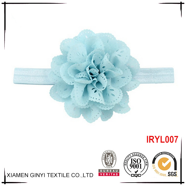 New design durable ribbon flower elastic baby headband