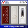 Size Customized Euro aluminium frame modern wooden door with glass