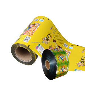 full printed plastic food packaging film/metalized OPP plastic lamination packaging roll film for food