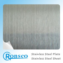 201 430 304 stainless steel satin sheet hl hairline finish surface