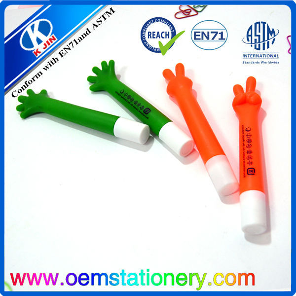 Cute promotional plastic ball pen with hand shape design
