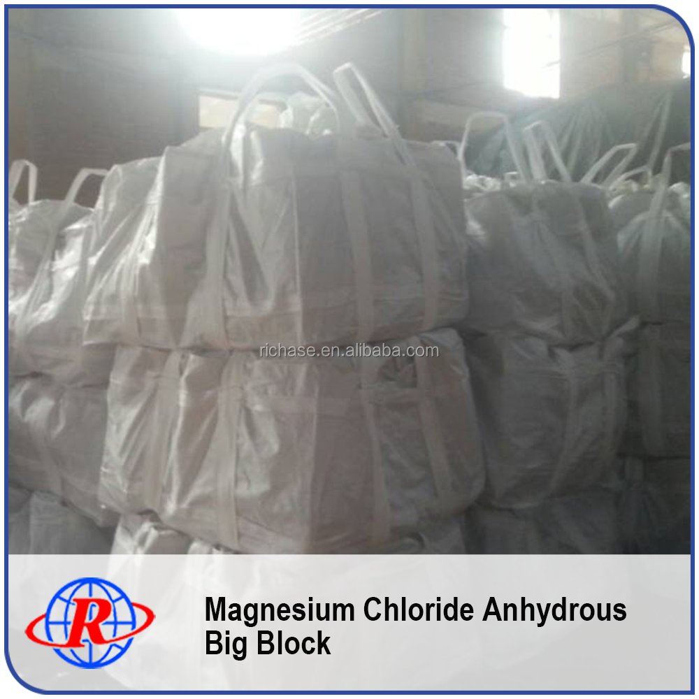 Anhydrous Big Block Mgcl2 Price Per Ton With Good Quality