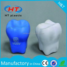 HTPE198 Hot Sales From Promotion Customized Logo Stress Toy PU Foam Funny Teeth Toy