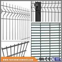 yard guard PVC coated welded wire fence panels/vinyl coated welded wire fence