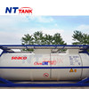 ISO approved factory price liquid transport chemline tank container