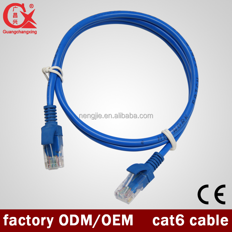 New Style Good Quality Indoor CCA/CU 4Pair Cat6 Ethernet Cable