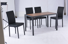 Wood Style and Home Furniture General Use 4 seat dining table set for restaurant
