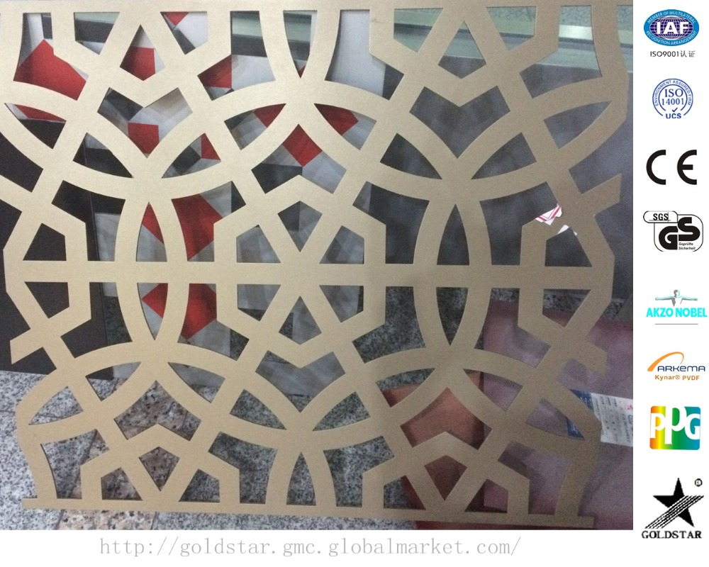 laser cut metal screens carving design aluminum composite panel decorative wall panel