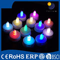 Factory price battary power pillar mini led tea light colorful candle light
