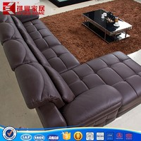 2015 new design relaxing leather living room funiture sofa