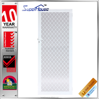 High qulity Australia standard AS2047 aluminum hinge door with fiberglass fly net