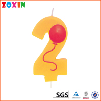 China supplier cake decoration number birthday candle