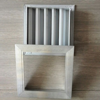 Decorative return air ventilation bathroom door grille