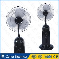 Good sale 16inch water mist fan standing portable misting fan for Spraying mist removing dust