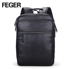 Alibaba Men's Book Backpack Laptop Rucksack Leather