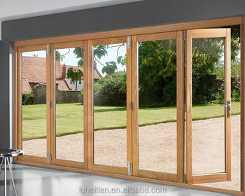 China supplier ISO/SGS double PVC folding doors