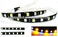 High Power 18 SMD LED Switchback strip bar WHITE & AMBER Turn Signal PARKING